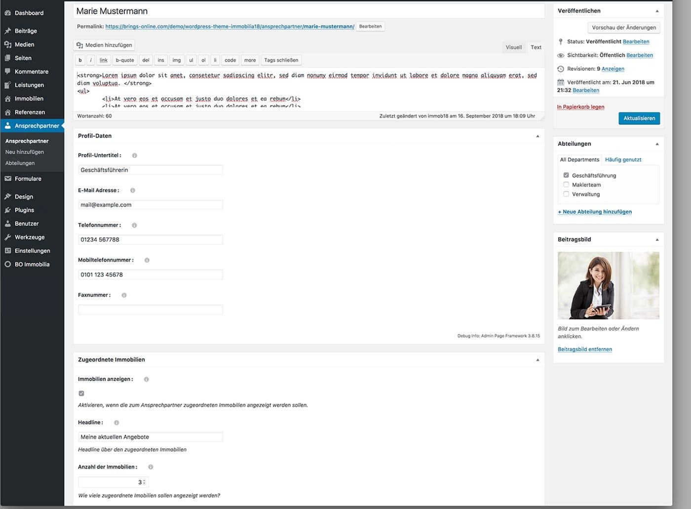 Immobilia - WordPress Theme für Immobilienwebseiten